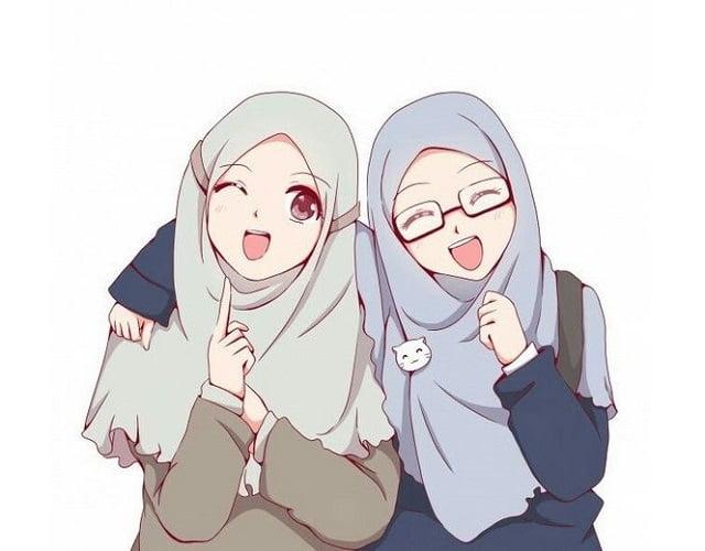 99 Gambar Kartun Muslimah Cantik Dan Imut Terbaru Combinesia