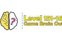 Kunci Jawaban Brain Out Level 151, 152, 153, 154, 155, 156, 157, 158, 159, 160