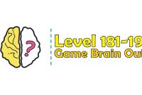 Kunci Jawaban Brain Out Level 181, 182, 183, 184, 185, 186, 187, 188, 189, 190
